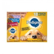 Pedigree Chopped Ground Dinner Variety Pack With Chicken, Filet Mignon & Beef Wet Dog Food, 3.5-oz, case of 18