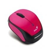 Mouse Genius Óptico Micro Traveler 9000R V2, Inalámbrico, USB, 1200DPI, Negro/Rosa