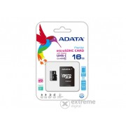 Card de memorie Adata microSDHC 16GB + adaptor SDHC