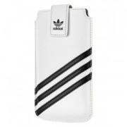 Adidas Universal Sleeve M - кожен калъф с лента за издърпване за iPhone 5, iPhone 5S, iPhone SE, iPhone 5C и мобилни телефони (бял)