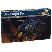 ITALERI Kit 1:72 Modellino Elicottero AH - 6 Night Fox 0017S