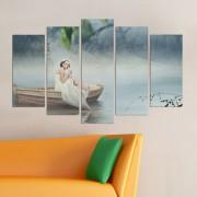 Декоративeн панел за стена с водна импресия и романтичен акцент Vivid Home