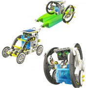 14 In 1 Solar Powered Robot Assembly Rechargeable Kids Toy Kit Educational Gift Pattern Building Block Assembling...