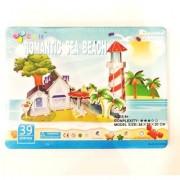 39 Pieces 3D PUZZLE Romantic Sea beach pz-14