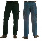 Jeans mit Lederecken, Farbe schwarz, Gr.55 - Workerjeans