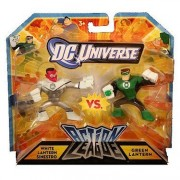 DC Universe Action League White Lantern Sinestro vs Green Lantern 2pk Mini Figures by Mattel Toys (English Manual)