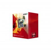 Procesador (APU) AMD A4-6300 A 3.7 GHz (hasta 3.9 GHz) Con Gráficos Radeon HD 8370D, Caché 1MB, Socket FM2, Dual-Core, 32nm, 65W. AD6300OKHLBOX