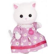 Girl of Sylvanian Families doll Persian cat