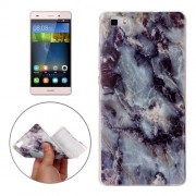 For Huawei P8 Lite Brown Granite Marbling Pattern Soft TPU Protective Back Cover Case