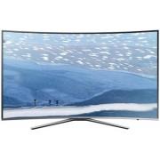 "Televizor LED Samsung 139 cm (55"") 55KU6500, Smart TV, Ultra HD 4K, Ecran Curbat, WiFi, CI+ + Lantisor placat cu aur si pandantiv in forma de inel gravat"