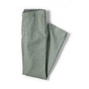 ランズエンド LANDS' END メンズ・リネンコットン・テーラード・パンツ/プレーン(グリーン)
