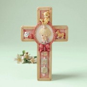 Precious Moments Jesus Loves Me Girl Praying Cross Hanging Art 701092