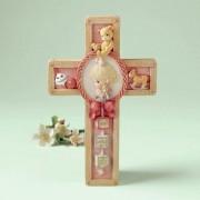 Precious Moments Jesus Loves Me Girl Praying Cross Hanging Art 701092