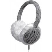 Casti stereo SBS FUR TTHEADPHONEWOOLG, Handsfree, Jack 3.5mm (Gri/Alb)