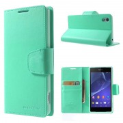 Korean Sonata Wallet Case for Sony Xperia Z3 - Green