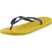 Havaianas Brasil Logo Zehensandalen Herren in Gelb/Blau, Größe: 47-48