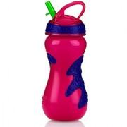 Nuby Gator Grip Sports Bottle with Flip-It Top Sipper Pink 15-Ounce