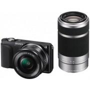 Aparat Foto Mirrorless Sony NEX-3NY (Negru), SELP1650+SEL55210