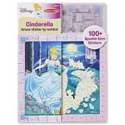 Melissa & Doug Disney Cinderella Deluxe Sticker by Number Activity Kit - 100+ Stickers Wooden Frame