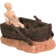 Akvárium Dekor Kerámia Csontváz Hajóval 12cm