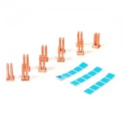 Set 10 radiatoare din cupru Enzotech MOS-C1, 6.5x6.5x12mm, benzi adezive incluse
