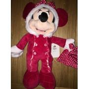 Peluche Doudou Minnie Pyjama Rouge Noël Disney Baby Jouet Éveil Souris Disney Store First Christmas Naissance Bébé Blankie Comforter