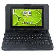 iROLA DX758 Pro Tablet PC - 7 Quad-Core 1.2 GHz ARM Cortex A9 Android 4.4 KitKat Bluetooth 8GB ROM Nand Flash 1024x600 Pixels Dual Camera Google Play Accessory Kit (Black w/ Keyboard)