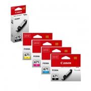 5 Pack Genuine Canon PGI-670, CLI-671 Ink Combo [1BK,1PBK,1C,1M,1Y]