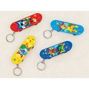 Amscan DisneyMickey Mouse Birthday Party Fingerboard Keychain Favor 3 1/8 X 1 Red/Light Blue/Dark Blue/Yellow