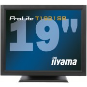 iiyama ProLite T1931SR-B1 19' LED LCD Resistive Touchscreen 1280 x 1024 speakers VGA DVI 200cd/m² 900:1 5ms RS232 & USB int. PSU VESA 100