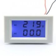 Voltmeter ampérmeter na striedavé napätie biely