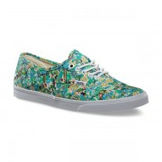 Shoes Vans Authentic Lo Pro Ditsy Floral Pool Green