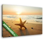 Naplemente tengeri csillaggal (40x25 cm, Vászonkép )