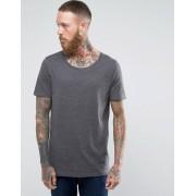 ASOS Удлиненная футболка с овальным вырезом ASOS - Серый