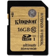 Card memorie Kingston SDHC UHS-I Ultimate 16GB, Clasa 10