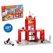 37792 Playset mattoncini caserma dei pompieri 287 pz da assemblare