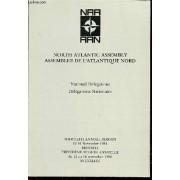 National Delegations - Delegations Nationales - Trentieme Session Annuelle Du 12 Au 16 Novembre 1984, Bruxelles.