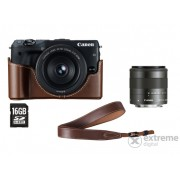 Canon EOS M3 Premium kit (18-55 S objektív + EH27-CJ toc + EM-E2 curea + 16GB SD card)