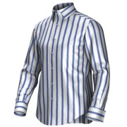 Maatoverhemd blauw/wit 54415