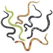 Rubber Rainforest Snakes - 12 Pack -14 Inches - Snake Toys For Children Gag toys Prank Prop Gardens Party Favors Halloween & Decorations - Kidsco