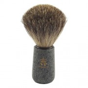 Gustowny pędzel do golenia - 100% BORSUK - granit - SCHRAMM