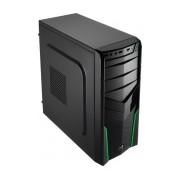Gabinete Aerocool V2X Green Edition, Midi-Tower, ATX/micro-ATX/mini-iTX, USB 2.0/3.0, sin Fuente, Verde