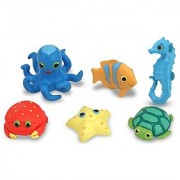 Melissa & Doug Sunny Patch Seaside Sidekicks Creature Set - Water Toys for Kids
