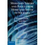 Monetary Theory and Policy from Hume and Smith to Wicksell by Arie Arnon
