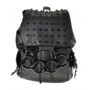 Plecak, torebka rockowa z ćwiekami i kastetem - BACKSTREET BAG