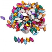 Crystal Horse Eye Shaped Sewing Button Decor DIY Crafts 100pcs Mixed Color