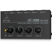 Behringer MicroMIX MX400 Low-Noise 4-channel Line Mixer Black