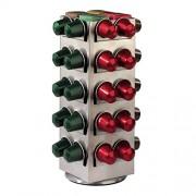Xavax 111139 Portacapsule Caffe Terrazzo per Nespresso 80 Capsule, Silver