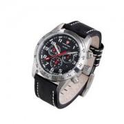 Swiss Timer Uhr H3 Chrono-Alarm mit Lederarmband
