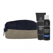 Collistar Men´s Line Kit 200ml für Männer - Rasierschaum Men Perfect Adherence Shaving Foam 200 ml + Duschgel Men Toning Shower Gel 250 ml + Kosmetiktasche für empfindliche Haut